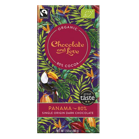 Chocolate and Love chocoladereep - Panama 80% - 40 gram