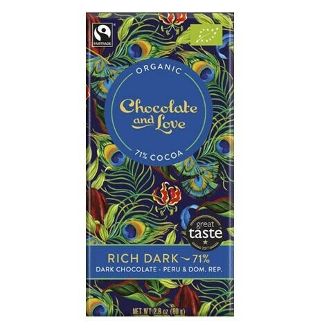 Chocolate and Love chocoladereep - Rich Dark 71% - 40 gram