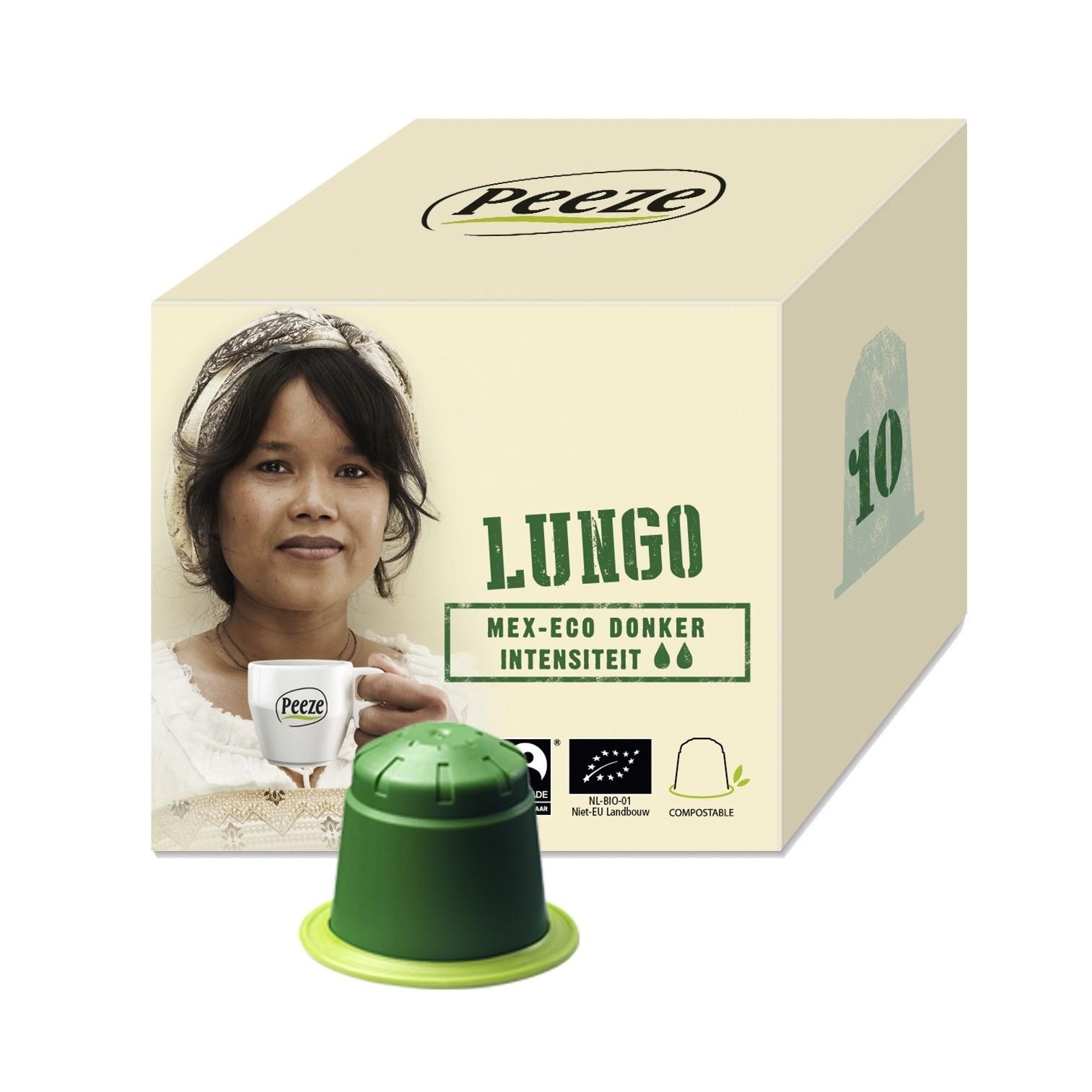 Koffiecups Lungo Mex Eco - 100% composteerbaar en Nespresso® compatible