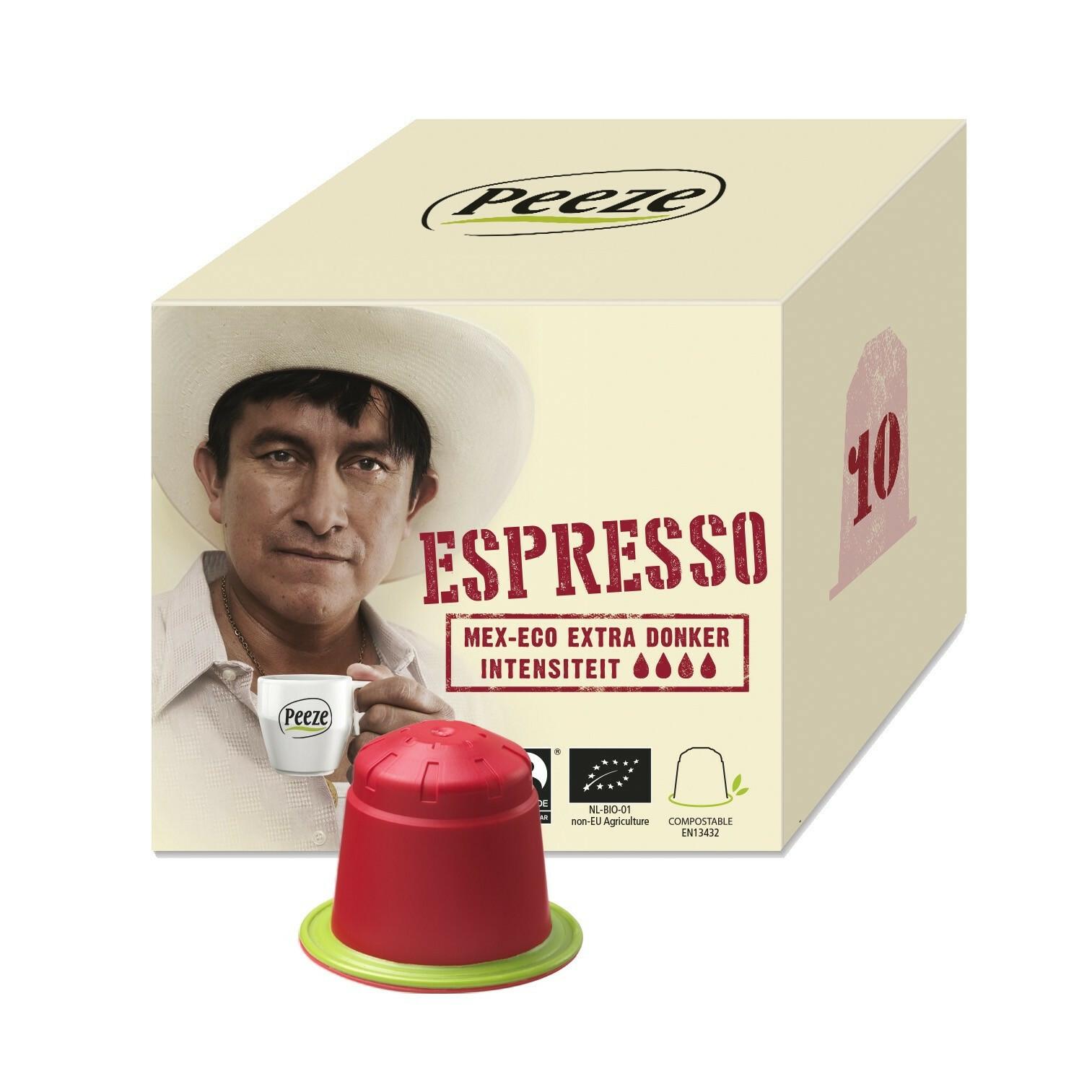 Koffiecups Espresso Mex Eco - 100% composteerbaar en Nespresso® compatible