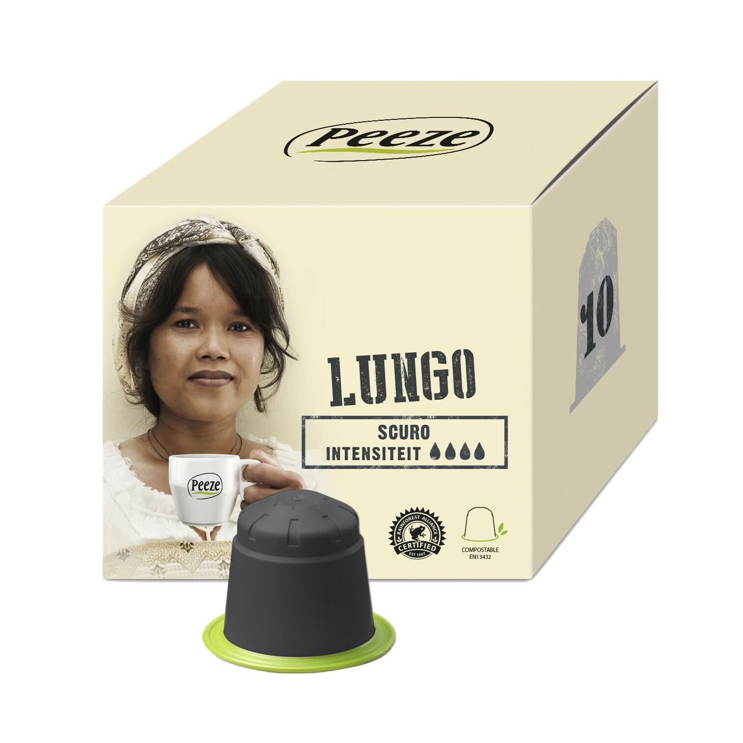Koffiecups Scuro - 100% composteerbaar en Nespresso® compatible