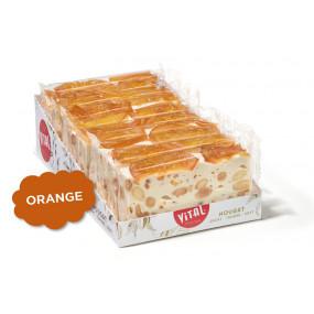 Nougatreep Sinaasappel - reep van 100 gr