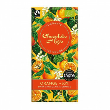 Chocolate and Love chocoladereep - Orange 65% - 80 gram