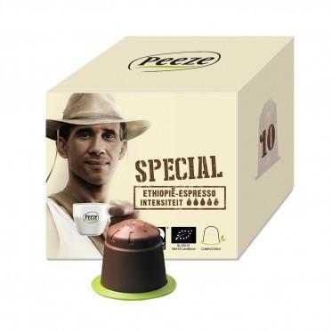 Koffiecups Espresso Sidamo - 100% composteerbaar en Nespresso® compatible