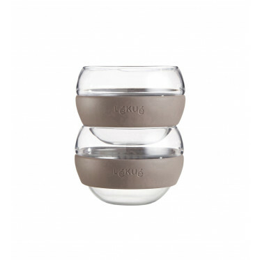 Cozy Tea set met 2 glazen mokken - 250 ml