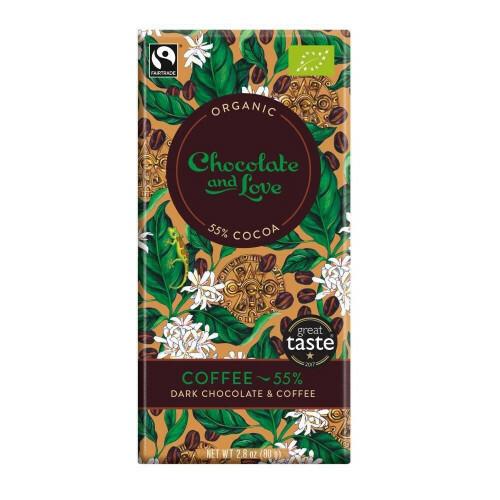 Chocolate and Love chocoladereep - Coffee 55% - 80 gram