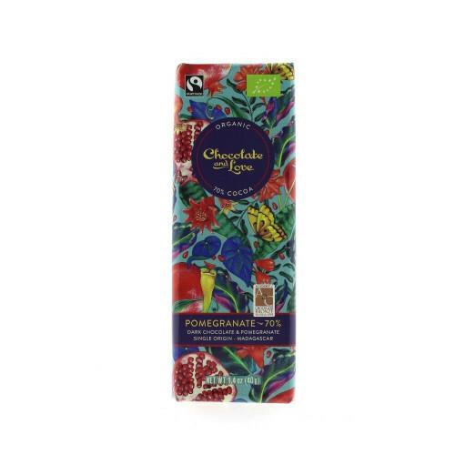 Chocolate and Love chocoladereep - Pomegranate Dark 70% - 40 gram