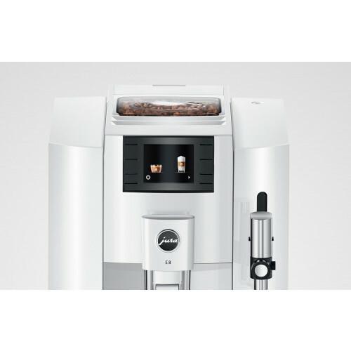 E8 Piano White EB koffiemachine