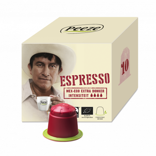 Koffiecups espresso - Mex-Eco extra donker
