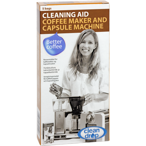 Moccamaster Clean Drop reinigingsmiddel - 5 zakjes