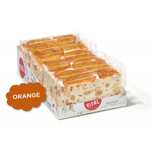 Nougatreep Sinaasappel 100 gr