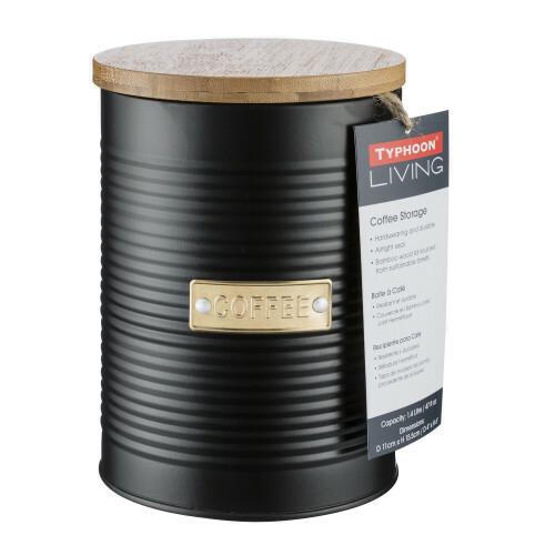 Typhoon otto voorraaddoos voor koffie - zwart