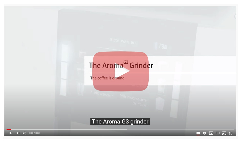Grinder system of JURA